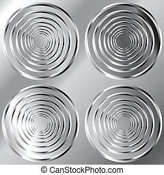 Seamless large circular metal tread