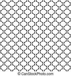 Seamless latticed texture with oval elements. Vector art.