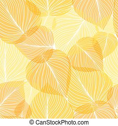 Seamless leaf background, vector illustration.