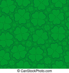 Seamless leaf clover