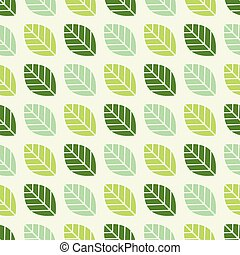 Seamless leaf pattern background