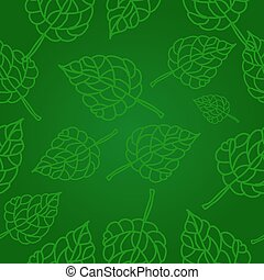 Seamless leaves green pattern