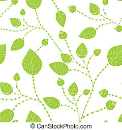 Seamless leaves pattern in green colors