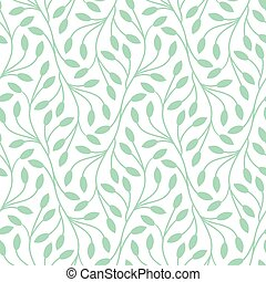 Seamless leaves pattern on white background