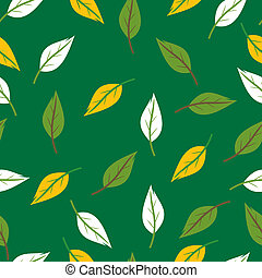 Seamless leaves texture