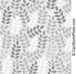 Seamless leaves wallpaper in silver