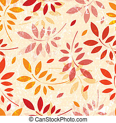 Seamless grunge pattern of colored autumn leaves. EPS 10 vector illustration