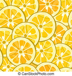 Seamless lemon orange background
