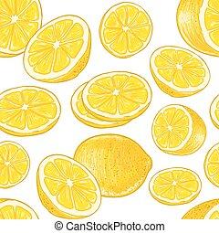 Seamless lemons pattern