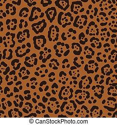 Seamless leopard fur
