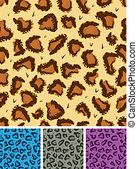 Seamless Leopard Or Cheetah Fur Background - Illustration of...
