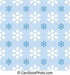 seamless, licht, muster, mit, schneeflocken, auf, blaues