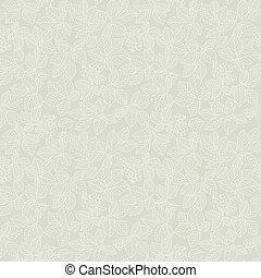 Seamless light beige leaf pattern. Vector illustration