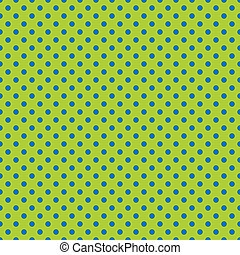 Seamless lime green and blue dot pattern background. Ideal for packaging designs.