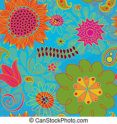 Seamless Line Doodles Bright - This is a resizable seamless...