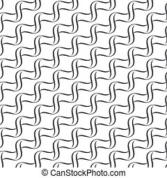 Seamless lines with wavy vector pattern background