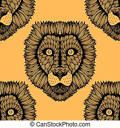 Seamless lion background