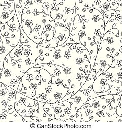 Seamless little daisy flower pattern.