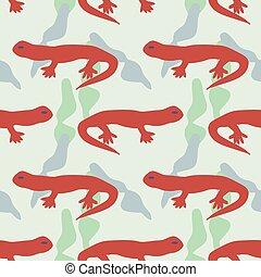 Seamless lizards pattern