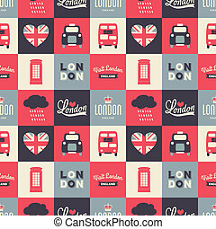 Seamless London Background - Seamless repeat pattern with...