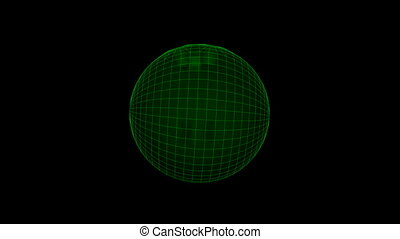 Seamless loop Baseball Ball Wiref