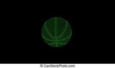 Seamless loop Baskatebal Ball Wiref - Seamless loop...