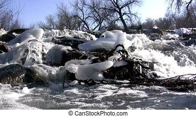 (seamless, loop), berg, snowmelt