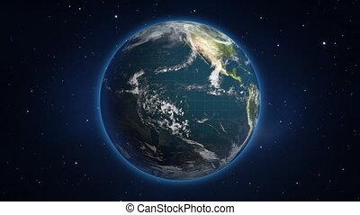 Seamless Loop Earth Rotation