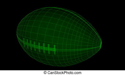 Seamless loop Football Ball Wiref