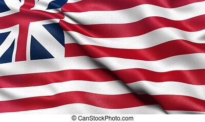 Seamless loop Grand Union flag