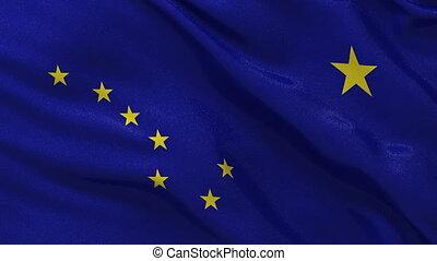 Seamless loop of Alaska state flag - State flag of Alaska...