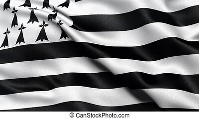 Seamless loop of Brittany flag - Seamless loop of Brittany...