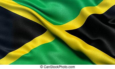 Seamless loop of Jamaica Flag - Seamless loop of flag of...