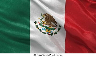Seamless loop of Mexican Flag