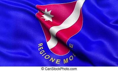Seamless loop of Molise flag