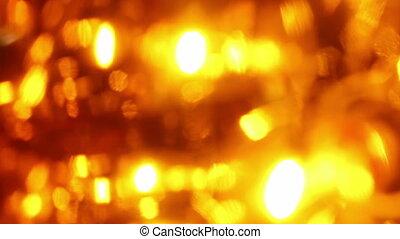 Seamless loop of soft focused orange LED lights blinking