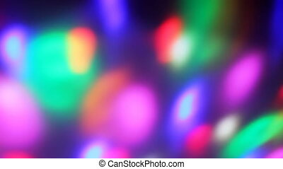 Seamless loop of soft focused spinning LED lights - Extreme...