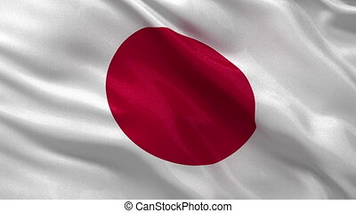 Seamless loop of the Japanese flag