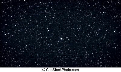 Seamless loop of twinkling stars. HD Resolution