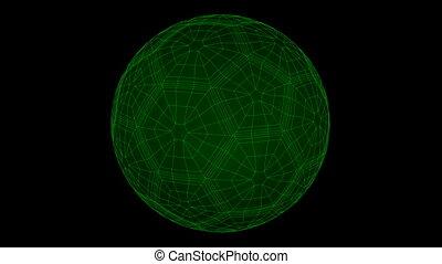 Seamless loop Soccer Ball Wiref