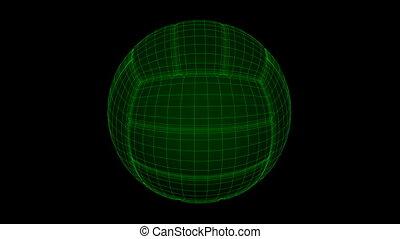 Seamless loop Vollyball Ball Wiref
