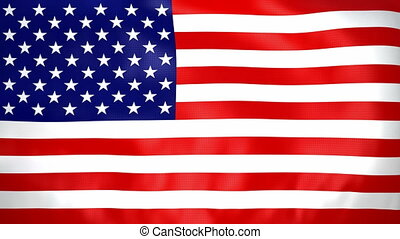 Seamless loop waving USA flag