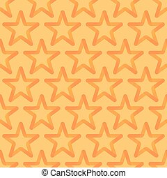 Seamless Looped Pattern with Orange Stars