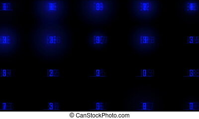 numbers flashing blue