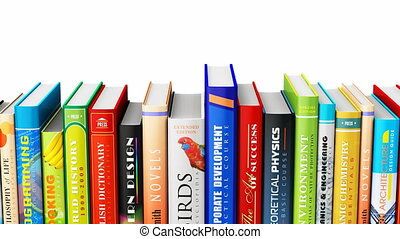 Seamless looping color hardcover books - ATTENTION: Design...