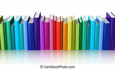 Seamless looping color hardcover books - Creative abstract...