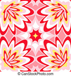 Seamless lounge pattern - Seamless burst flower power...