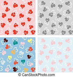 Seamless love heart background in pretty colors. Great for Valentine's Day, Mother's Day, wedding, scrapbook, gift wrapping paper.
