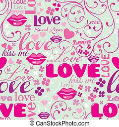 Seamless Typographic Love Pattern
