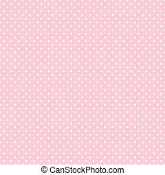 seamless, lunares, en, pastel, rosa